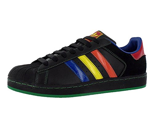 Adidas Leather Patent - Adidas Superstar 2 CB Men's Sneakers Size US 10.5, Regular Width, Color Black/Multicolour