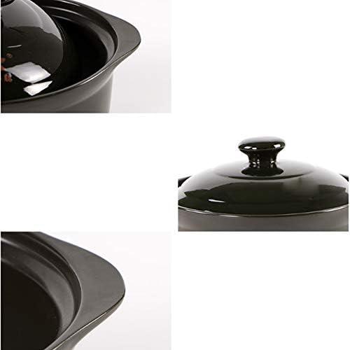 Casserole, casserole à haute température cuisinière à gaz domestique soupe casserole soupe pot ragoût pot en céramique pot ragoût pot 1.8/2.4L cadeau-2.4L