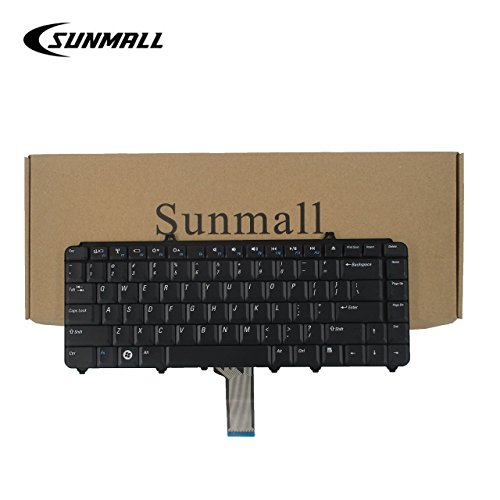 SUNMALL Keyboard Replacement for Dell Inspiron 1545 1525 1420 Laptop US Black