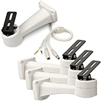 Generic Electric Rotating Bracket RS485 Wall Mount Holder for Security CCTV Camera (Pack of 4)