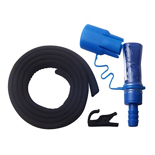Insulator Kit (TAGVO Replacement Hydration Bladder Bite Valve with On/Off Switch Leak Proof + Hose Insulator Sleeve + Fixing Clip, Easy Cleaning Suck Valve Backup Accessory Kit Dishwasher Drinking Straw Mouth Piece)