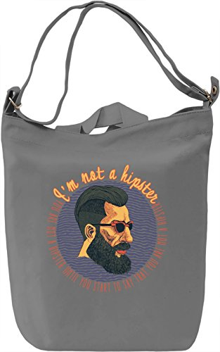I'm not a hipster Borsa Giornaliera Canvas Canvas Day Bag| 100% Premium Cotton Canvas| DTG Printing|