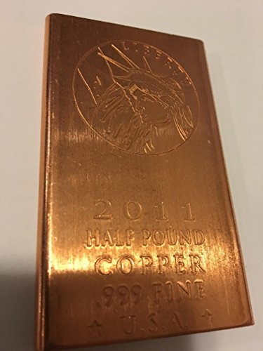 Half Pound .999 Fine Copper Bullion Art Ingot Bar Finest (Bullion Art Bar)