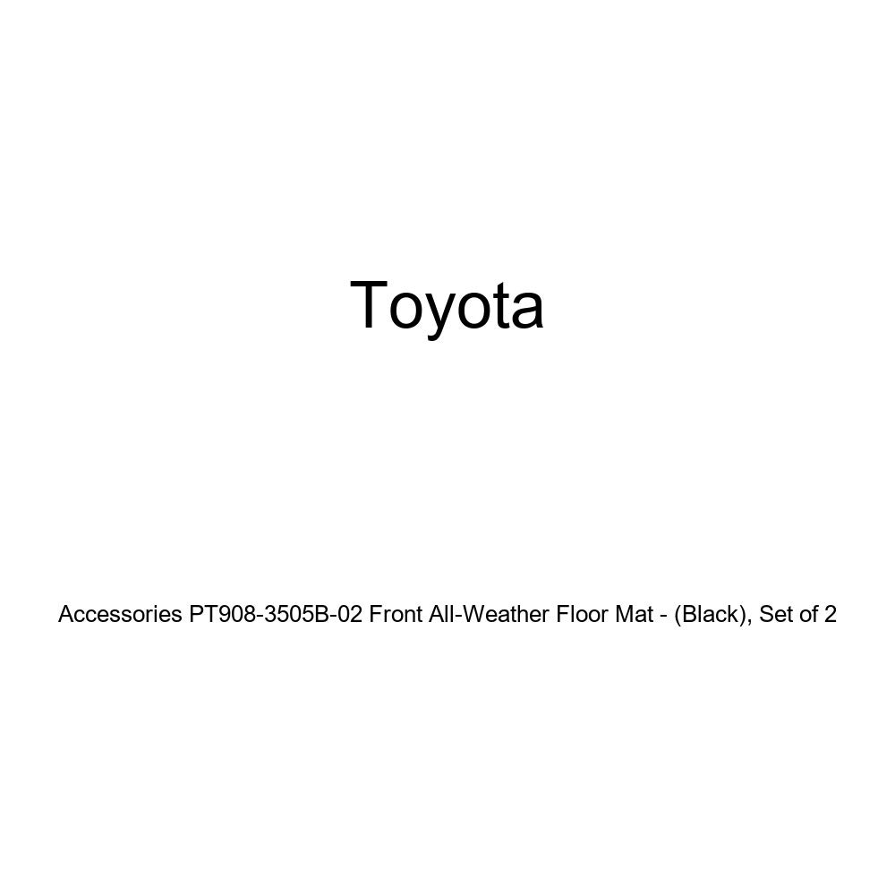 Genuine Toyota Accessories PT908-3505B-02 Front All-Weather Floor Mat - Set of 2 Black