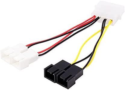 Neuftech Cable de Conector alimentación para ventilador pc fan 2 x ...