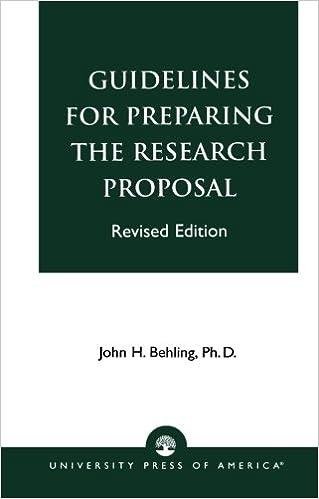 Writing research proposal  Proposal Format