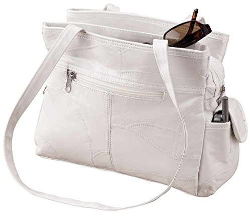 White Patch Leather Handbag - White Patch Handle