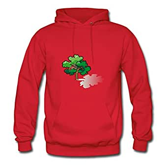 Customizable Oak Tree Hoody Red X-large Women