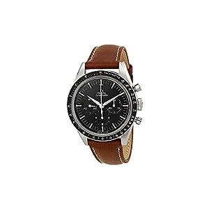 Omega Speedmaster Moonwatch Black Dial Brown Leather Mens Watch 31132403001001