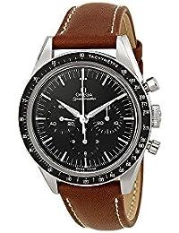 Speedmaster Moonwatch Black Dial Brown Leather Mens Watch 31132403001001