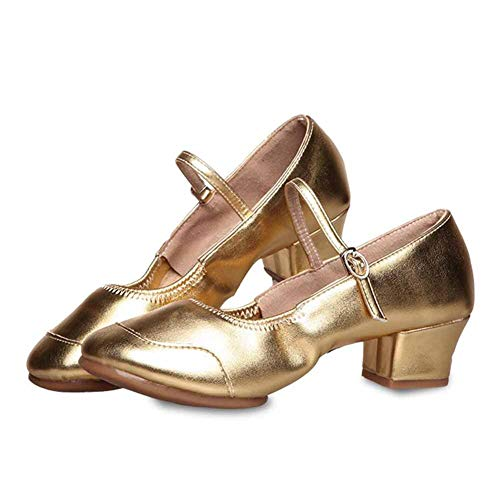 Tango Salle Chaussures Huatime Or Mary Sport Brillant Hauts Janes Talons Sociale Bloc Danse Ball Femme Latine De Cuir Fille Pratique Ballroom Samba Standard Sandales Parti qTFT6wE