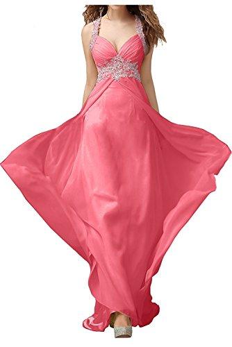 La_Marie Braut Damen Festlichkleider Jugendweihe Kleider Abendkleider mit Spitze Ballkleider Lang Wassermelon T3qQgAT