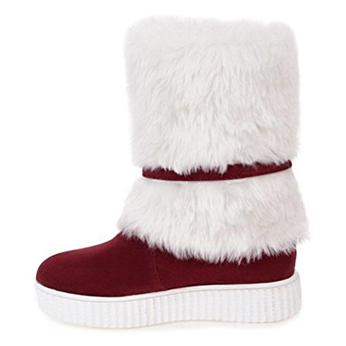 Red On TAOFFEN Boots Snow Pull Women's X8nFUgS