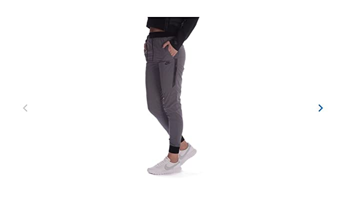 Nike Women's Bonded Woven Sport Casual Joggers-Gray-Small