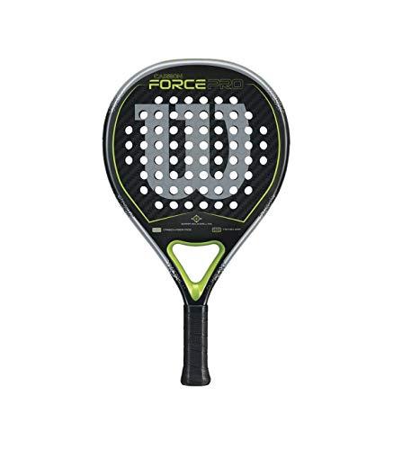 Wilson Carbon Force Pro Raqueta de Pádel, Unisex Adulto, Negro/Verde, Talla Única