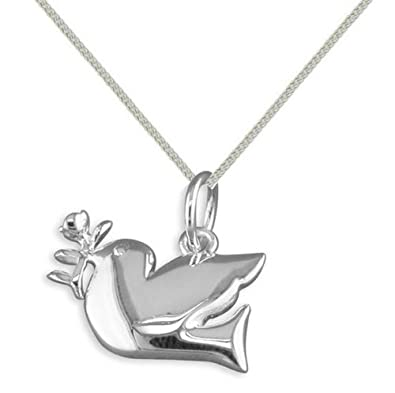 Stone river jewellery sterling silver dove of peace pendant necklace stone river jewellery sterling silver dove of peace pendant necklace aloadofball Images