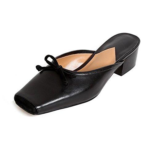 Infradito al Retrò KJJDE per Sandali Ortopedici Donna Bowknot Piede Alleviare WSXY L0118 Dolore Comodi Elegante Il Sandali black Estivi r1rqwZ