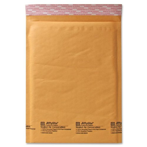 Sealed Air Jiffy Lite Cushioned Mailers, f Seal, #2, 8.5 x 12 Inches, Pack of 100 (39093)
