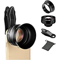 3X Telephoto Lens, BlitzWolf Phone Camera Lens Professional HD Phone Lens with Lens Hood and Universal Clip for Group Photos & Landscapes Compatible with iPhone and Android Smartphones