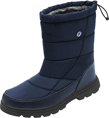JOINFREE Womens Warm Snow Boots Waterproof for Snow and Ice Water Resistant Lightweight Navy Women 6.5 M US - Navy Waterproof Boot