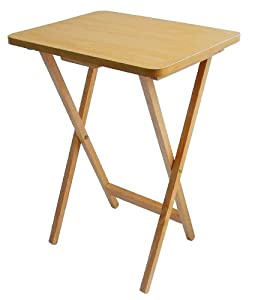 Premier Housewares Folding Snack Table   Natural Wood
