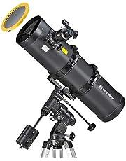 Bresser Teleskop Pollux 150/750 mit EQ3 Montierung für Nacht und Sonnenbeobachtung durch hochwertigen Objektiv-Sonnenfilter zur gefahrlosen Beobachtung der Sonne