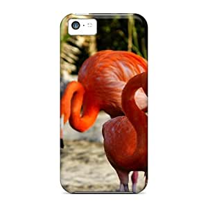 New Fashion Premium Tpu Case Cover For Iphone 5c - Flamingoes For Helencaramelie