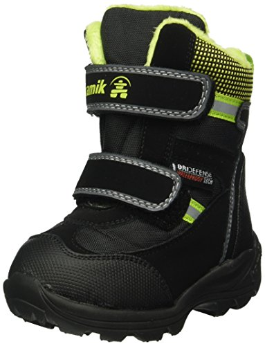 Kamik Slate Boys' Infant-Toddler-Youth Boot 5 M US Toddler Black-Lime