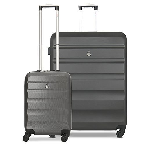 Aerolite ABS Hard Shell 2 Piece Suitcase Lugagge Set - 21' Hand Cabin...
