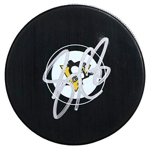 (Sidney Crosby Pittsburgh Penguins Signed Autographed Penguins Logo NHL Hockey Puck COA)