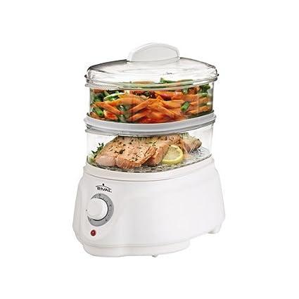 Amazon.com: Rival CKRVSTLM21 Food Steamer, White: Vegetable Steamer ...