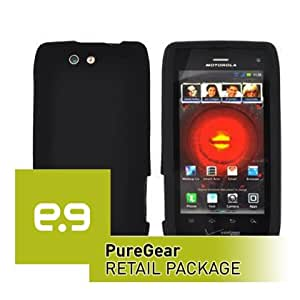 PureGear Silicone Soft Silicone Case in PureGear Retail Package for Motorola Droid 4 XT894 (Black)