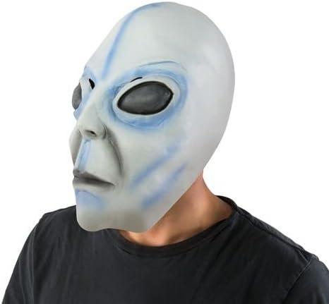 41719 Ptit Clown- Masque adulte latex int/égral alien Taille Unique Unisex