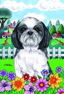 Shih Tzu   Tomoyo Pitcher Spring Garden Flag