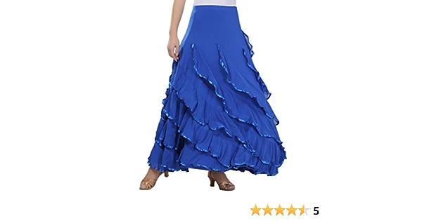 Tookang Traje de Baile Moderno Falda de Baile Flamenco de ...