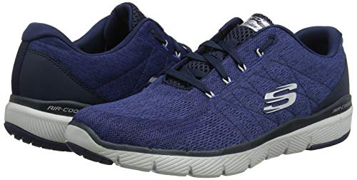 203c76ffd Amazon.com | Skechers Men's Flex Advantage 3.0 - Stally, Training, Navy, US  M | Fitness & Cross-Training