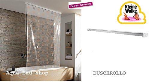 Kleine Wolke – Cortina de ducha enrollable 128 cm Diseño 10 ...