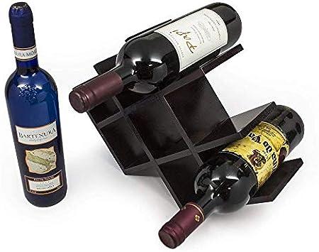 YAYY botellero Vino para 8 Botellas, bambú, Estante para Botellas de Vino – Botelleros de Madera para Vino u Otras Bebidas – Vinoteca de Madera para 8 Botellas – Color Natural