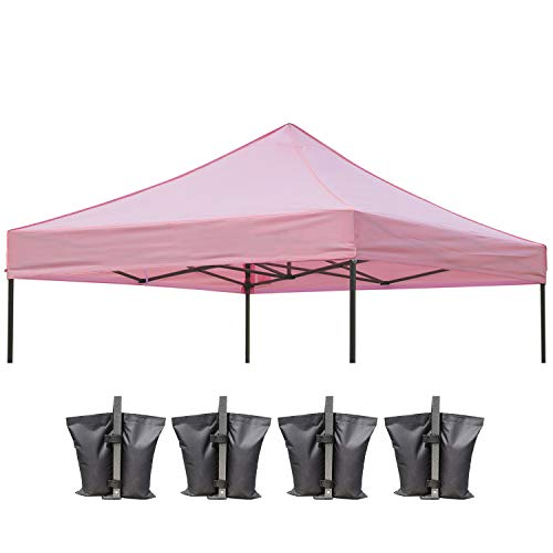 ABCCANOPY Replacement Top Cover 100% Waterproof (18+ Colors) 10x10 Pop Up Canopy Tent Top, Bonus 4 x Weight Bags(New ()