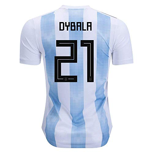 8dccf7916 AdriK RussiaJRS  21 Dybala 2018 Russia World Cup Argentina National Soccer  Home Jersey Mens M
