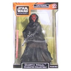 Darth Maul Character Collectible With Glow-in-the-dark Lightsaber By Star Wars