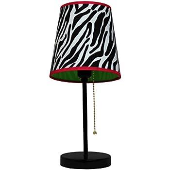 Limelights LT3000 ZBA Fun Prints Table Lamp, Black/Zebra