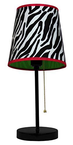 Limelights LT3000-ZBA Fun Prints Table Lamp, Black/Zebra (For Zebra Bedrooms Lamps)