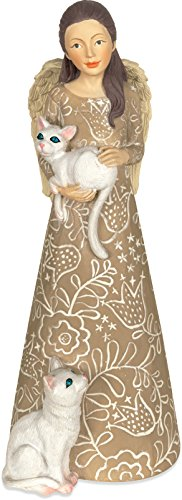 Angelstar 8044 Purrr-ect Cat Angel Figurine, - Kitty Cat Angel