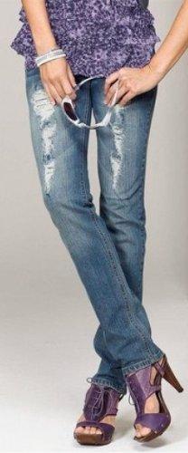 Laura N La Usé En Mode `jupe` Scott Bleu Jeans Used Rouleau` De À wIxBaw