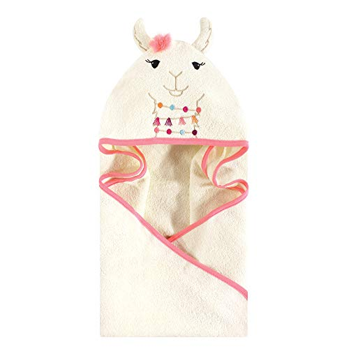 Little Treasure Animal Face Hooded Towel, Llama, One Size]()
