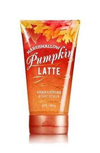 Bath and Body Works Marshmallow Pumpkin Latte Sugar Scrub - 2 in 1 Shea and Sugar Body Wash and Body Scrub (8 ounces) ()