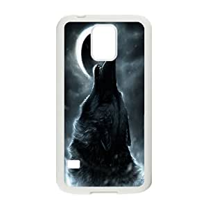 [H-DIY CASE] For Samsung Galaxy S5 -Wolf,Wolves and Moon Pattern-CASE-10