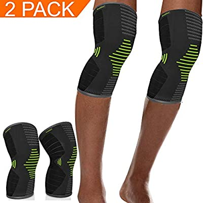 Scuddles Compression Knee Sleeve - Blue Knee Brace for Meniscus Tear, Arthritis, Quick Recovery etc. – Knee Support for Running, Crossfit, Basketball and Other Sports