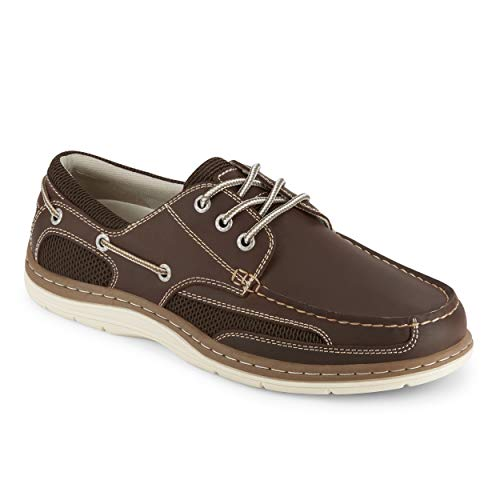 (Dockers Mens Lakeport Leather Casual Boat Shoe, Red Brown, 10.5 W)